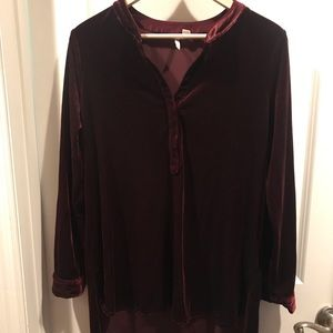 Suede Tunic Top